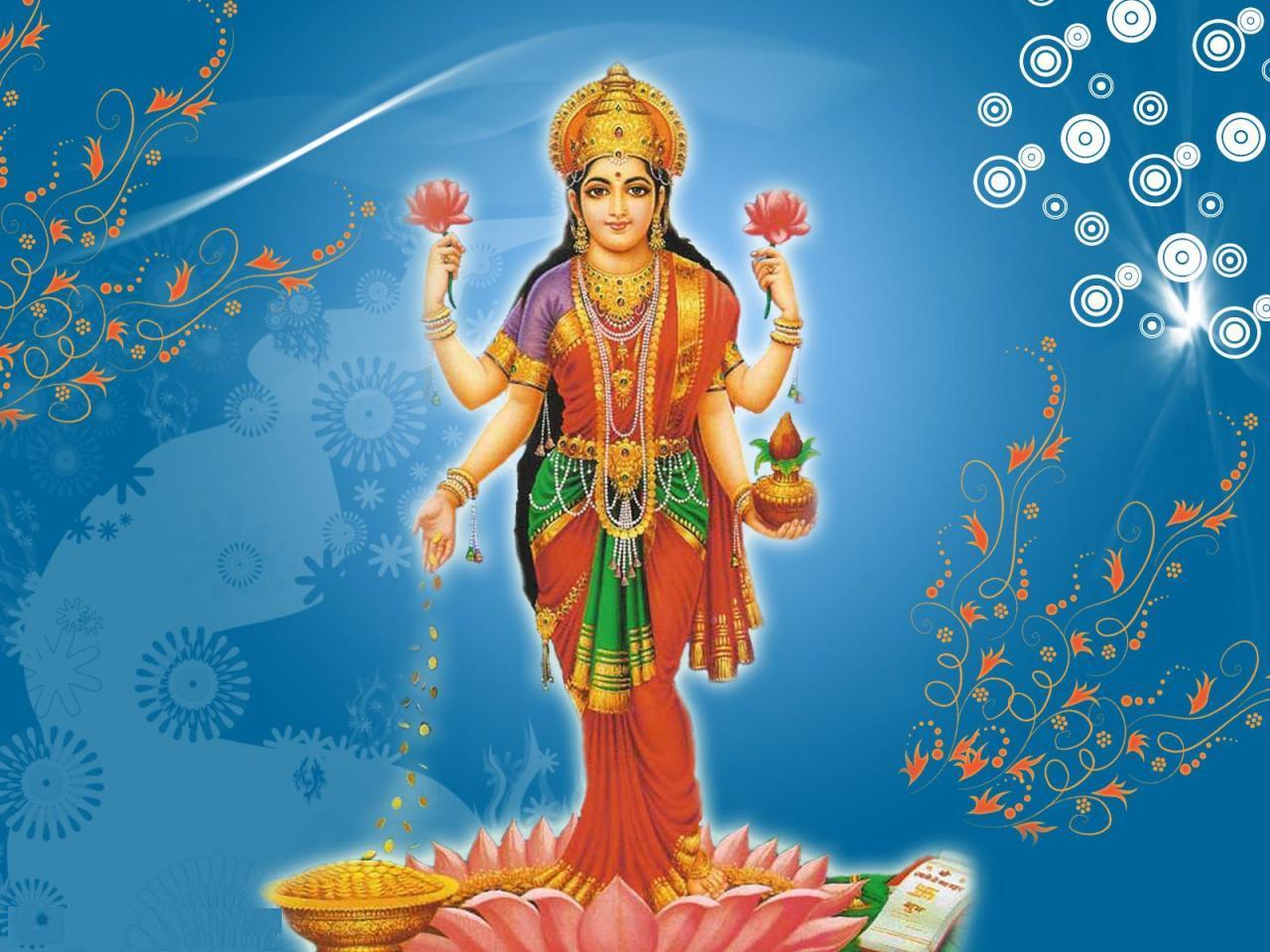 Lakshmi Devi - Standing Laxmi PNG