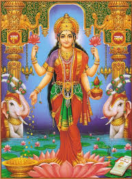 Lakshmi: The Hindu Goddess of Beauty and Prosperity - Standing Laxmi PNG