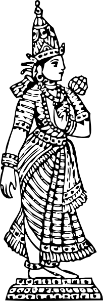 PNG: small · medium · large - Standing Laxmi PNG