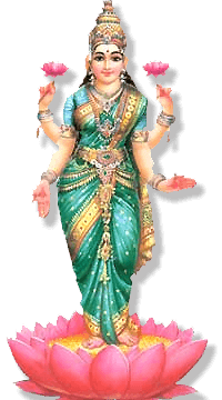 The Third Day Of Diwali - Standing Laxmi PNG