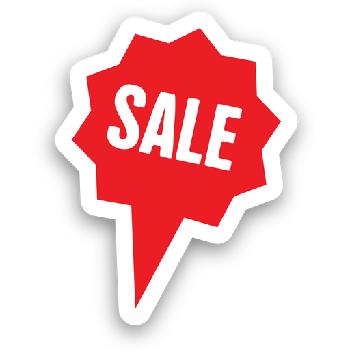 Star bubble sale sticker png - Sale PNG
