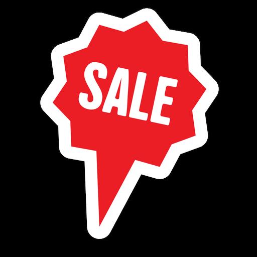Star bubble sale sticker png - Sale PNG