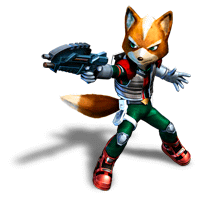 File:Brawl Sticker Fox (Star Fox Assault).png - Star Fox PNG