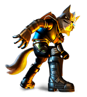 File:Brawl Sticker Wolf (Star Fox Assault).png - Star Fox PNG