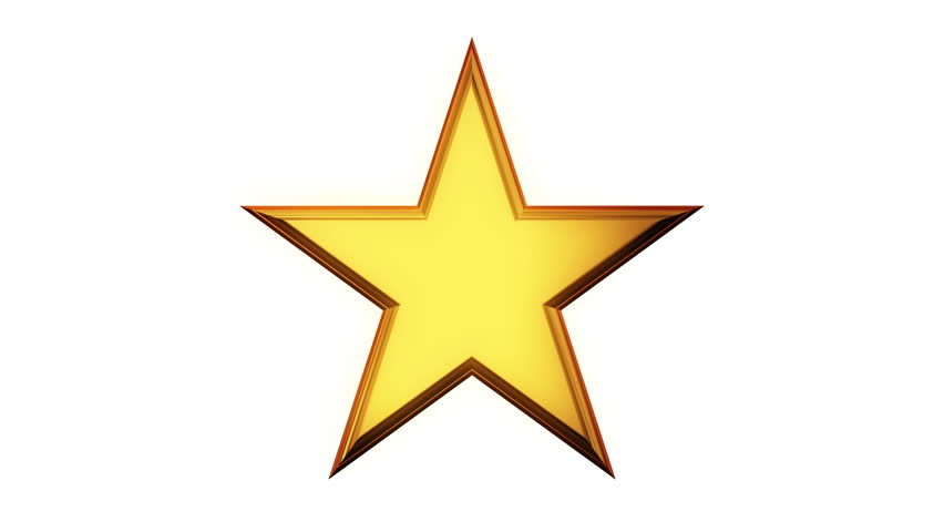Golden Star Rotate. 3D Render Footage In 4k. Chroma Key Green Screen. Stock  Footage Video 22201702   Shutterstock - Star HD PNG