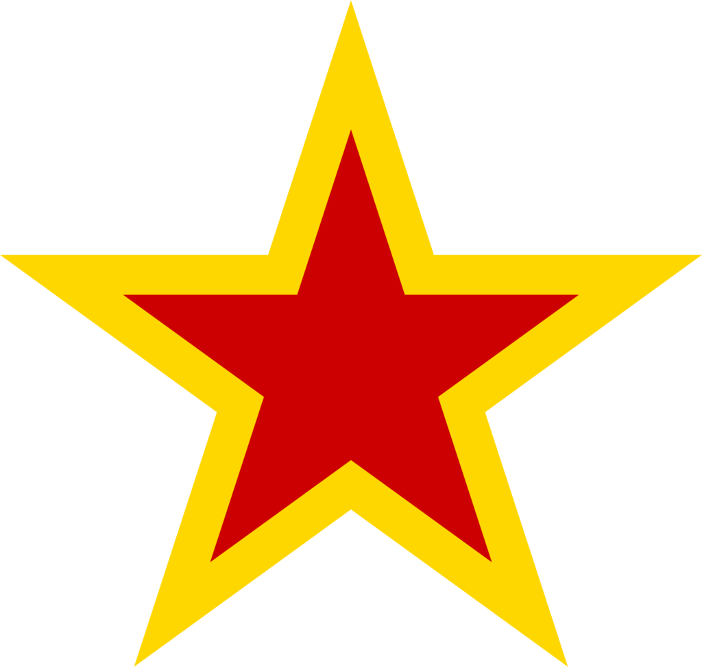 . PlusPng.com ShitAllOverHumanity Soviet star with yellow borders by  ShitAllOverHumanity - Star HD PNG