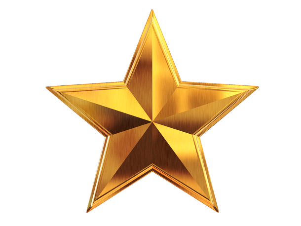 3D Gold Star PNG File