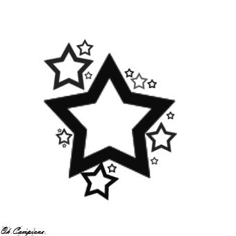 Star Tattoo Design By Oh-Campione.deviantart Pluspng.com On @deviantART - Star Tattoos PNG