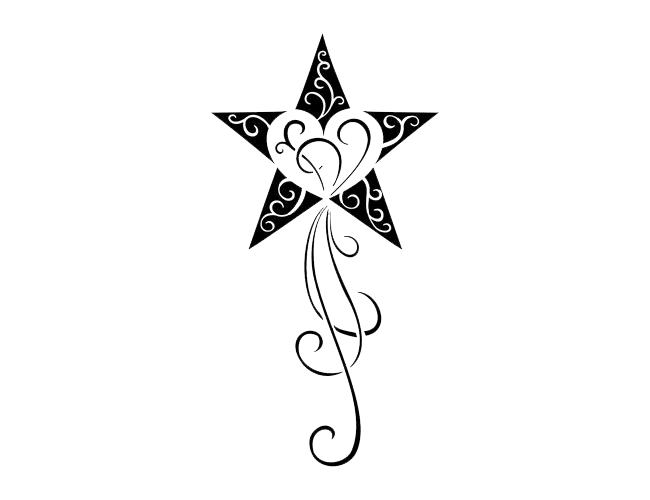 Star Tattoos Transparent PNG Image - Star Tattoos PNG