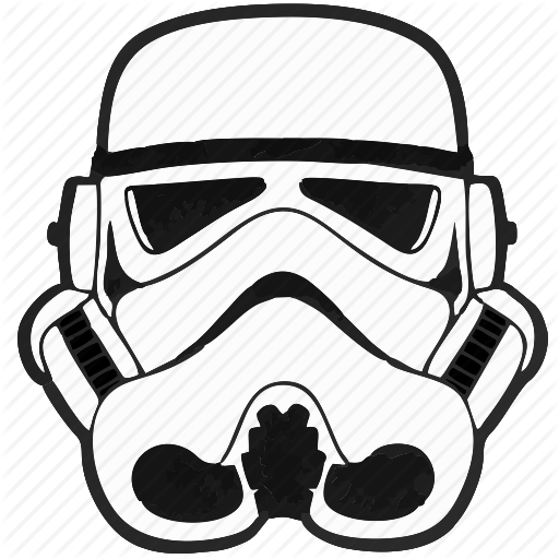Droid, Helmet, Soldier, Star, Starwars, Wars Icon - Star Wars PNG Black And White