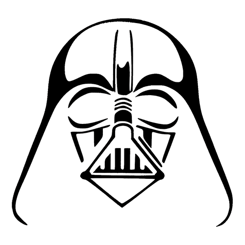 Star Wars Darth Vader Die Cut Vinyl Decal PV1024 - Star Wars PNG Black And White