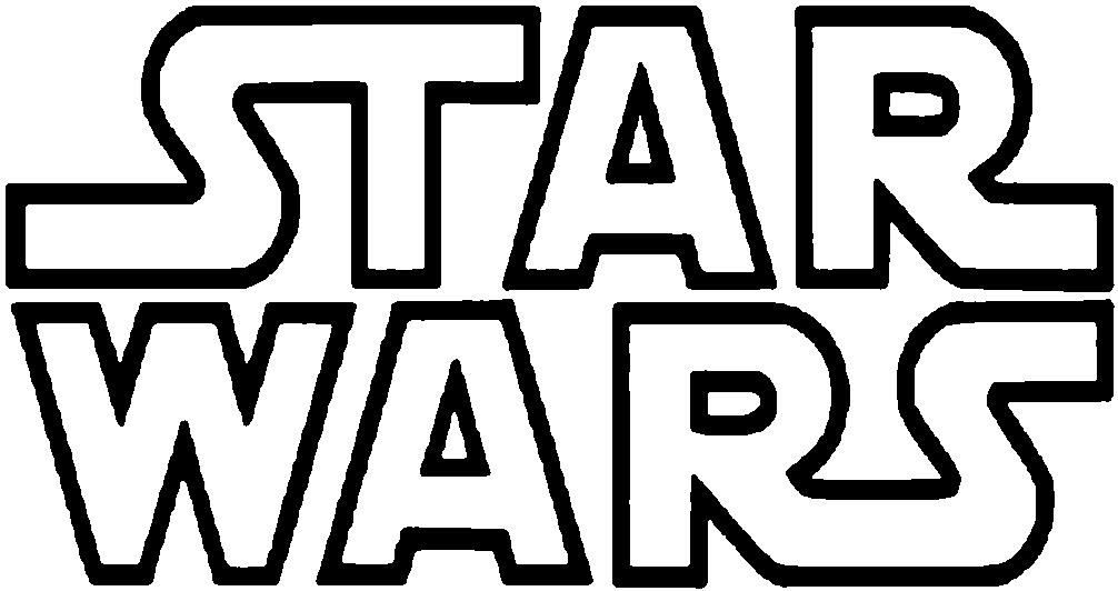star wars logo #998 - Star Wars PNG Black And White