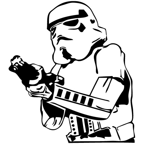Star Wars Stormtrooper Die Cut Vinyl Decal PV710 - Star Wars PNG Black And White