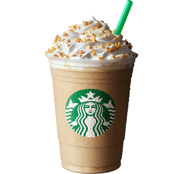 Toffee Nut Crunch Latte - Starbucks PNG