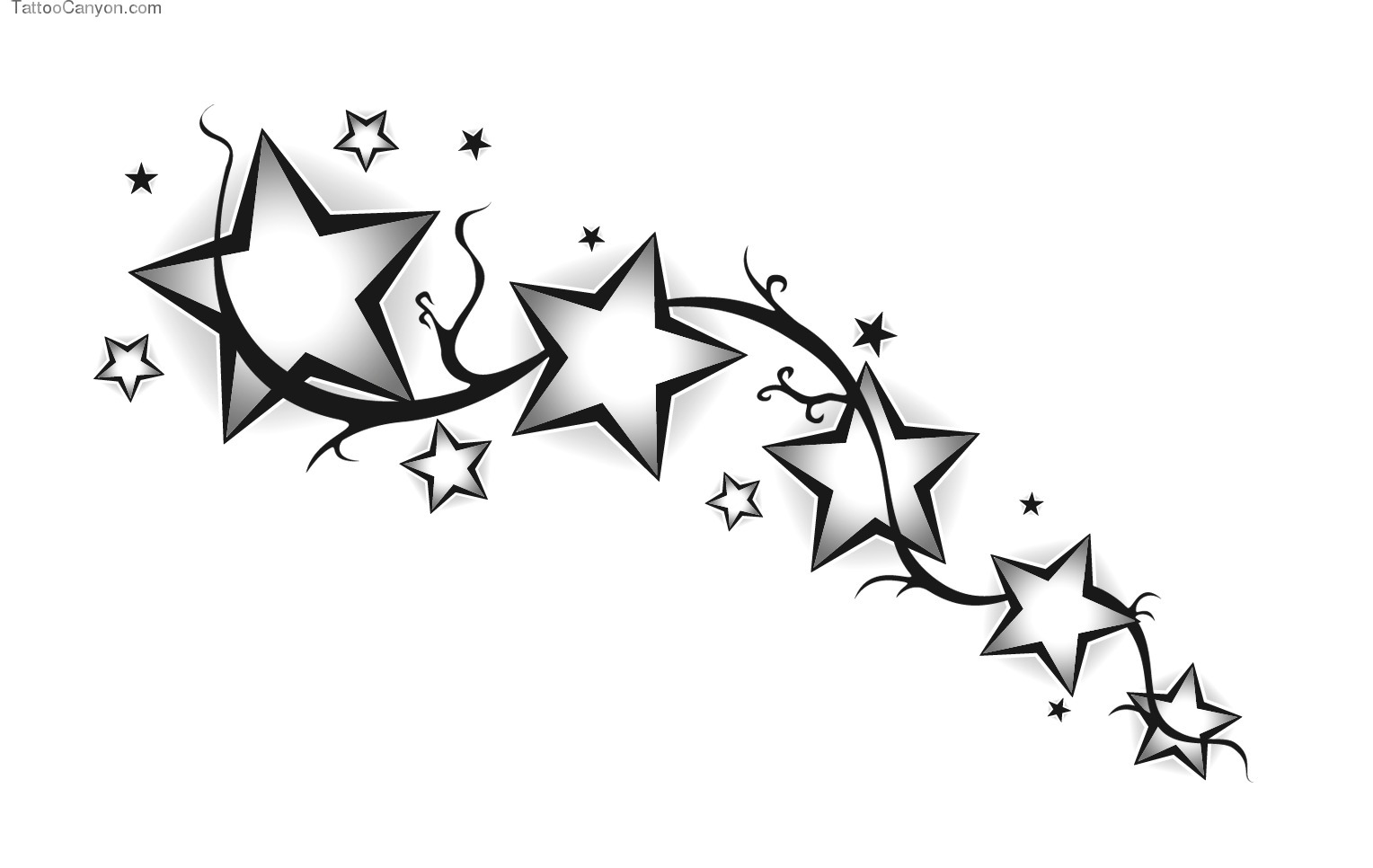 Star Tattoos PNG - 4