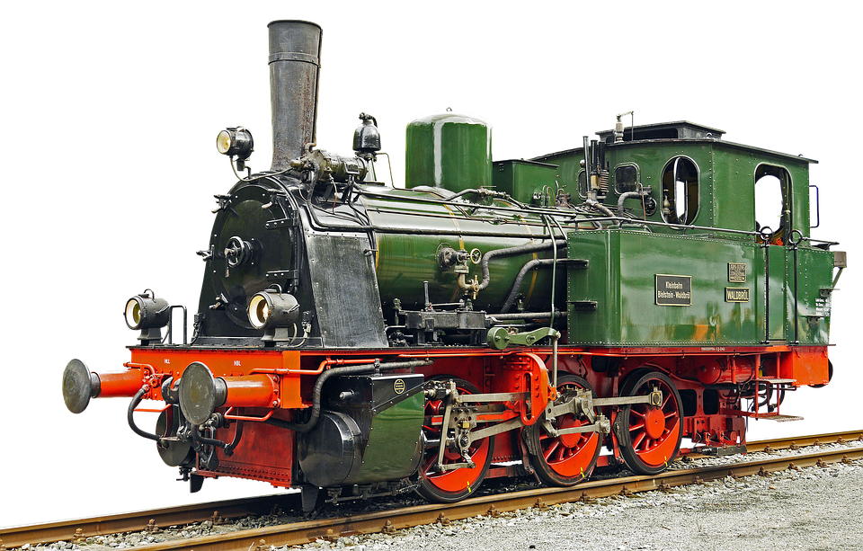 Locomotive, Steam Locomotive, Old - Steam Train PNG HD