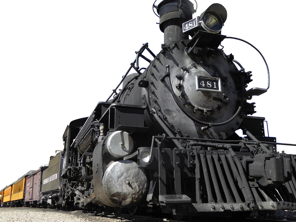 Railway, Steam, Locomotive, Old - Steam Train PNG HD