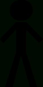 Black Stick Man Clip Art At Clker - Vector Clip Art Online intended for Stick  Man - Stick Figure PNG HD