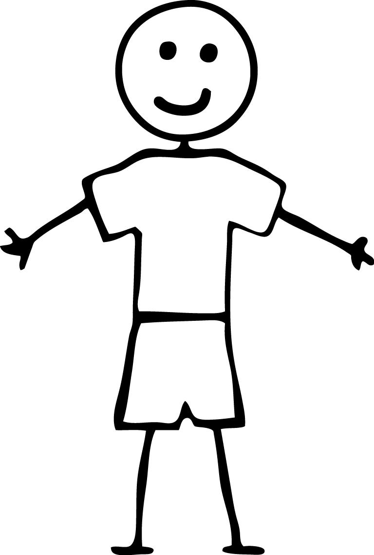 Boy Stick People Clip Art - Stick Figure PNG HD