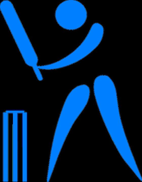 cricket bat ball player stickman stick figure - Stick Figure PNG HD