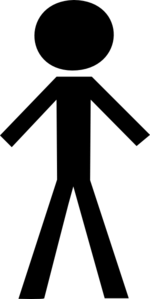 Black Stick Man Clip Art At Clker - Vector Clip Art Online intended for Stick  Man - Stickman PNG HD Free