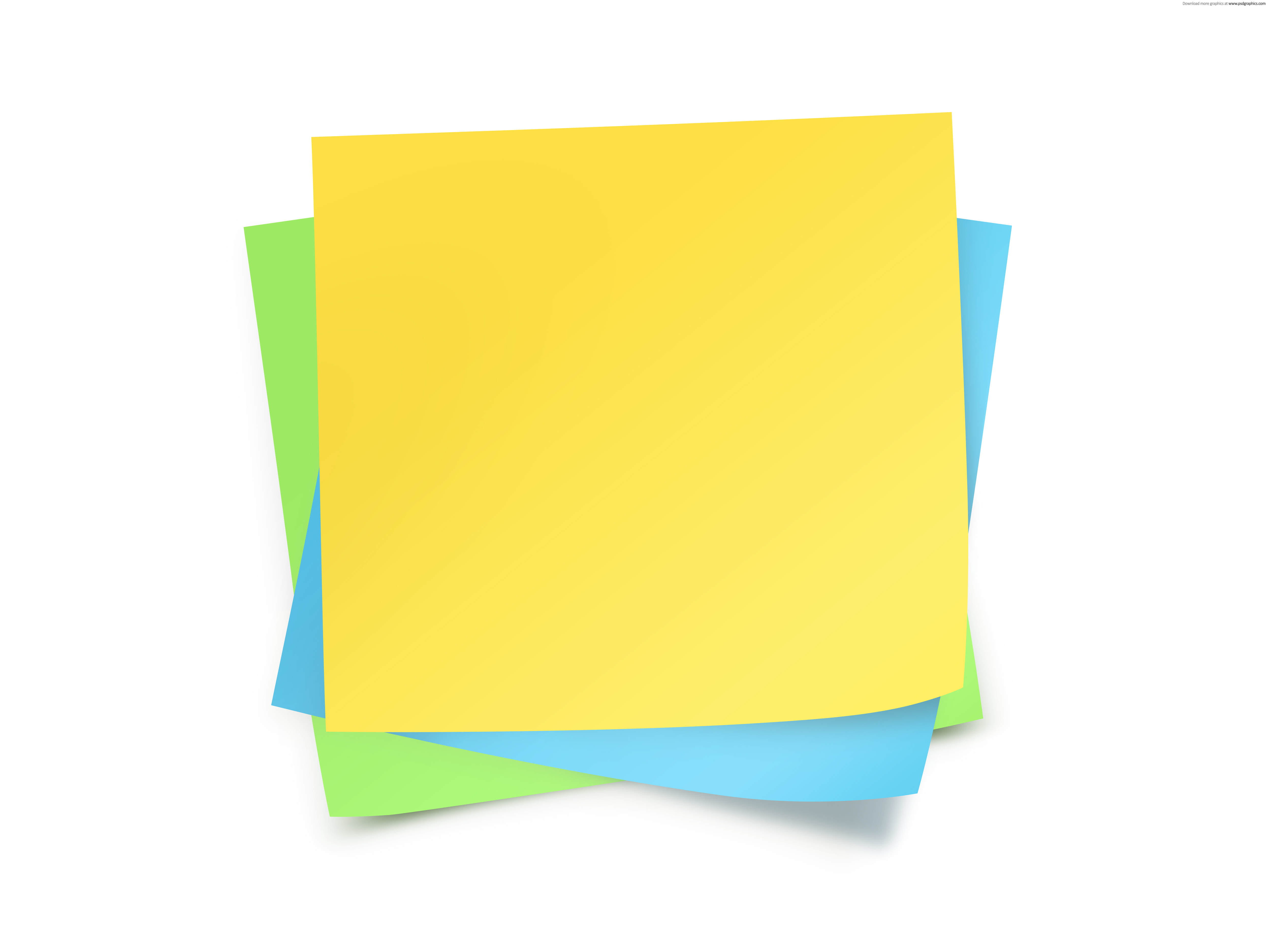 Paper notes template | PSDGraphics - Stickynotes HD PNG