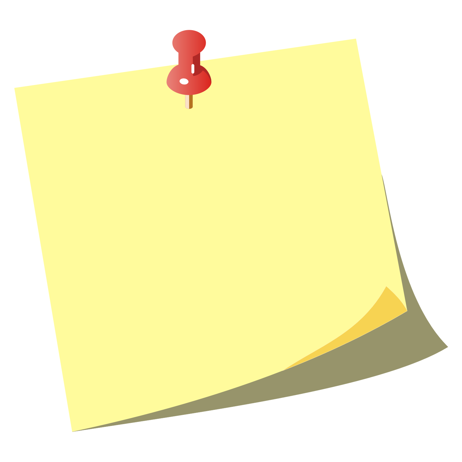Sticky Note Clipart - Stickynotes HD PNG