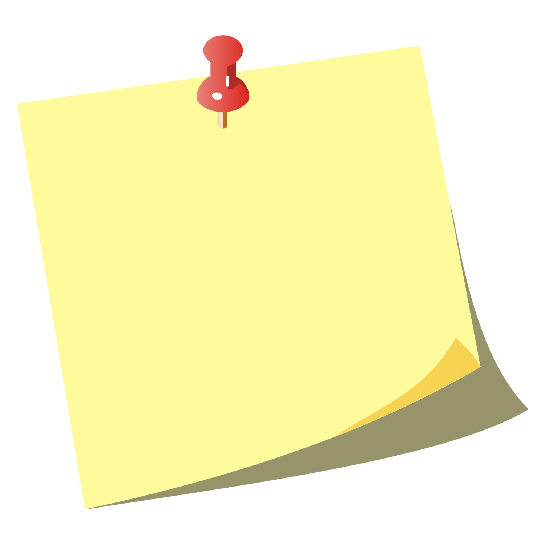 Sticky Note Clipart - Stickynotes HD PNG
