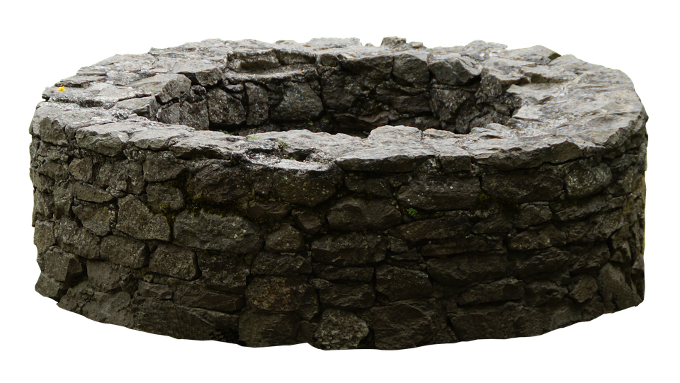 Fountain, Old, Stone Wall, Old Well, Water Pick - Stone HD PNG