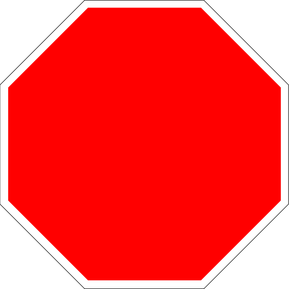 File:Blank stop sign octagon.svg - Stop PNG HD