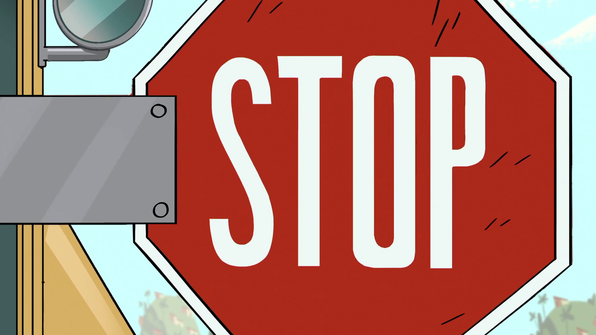 S1E7 School bus STOP sign.png - Stop PNG HD