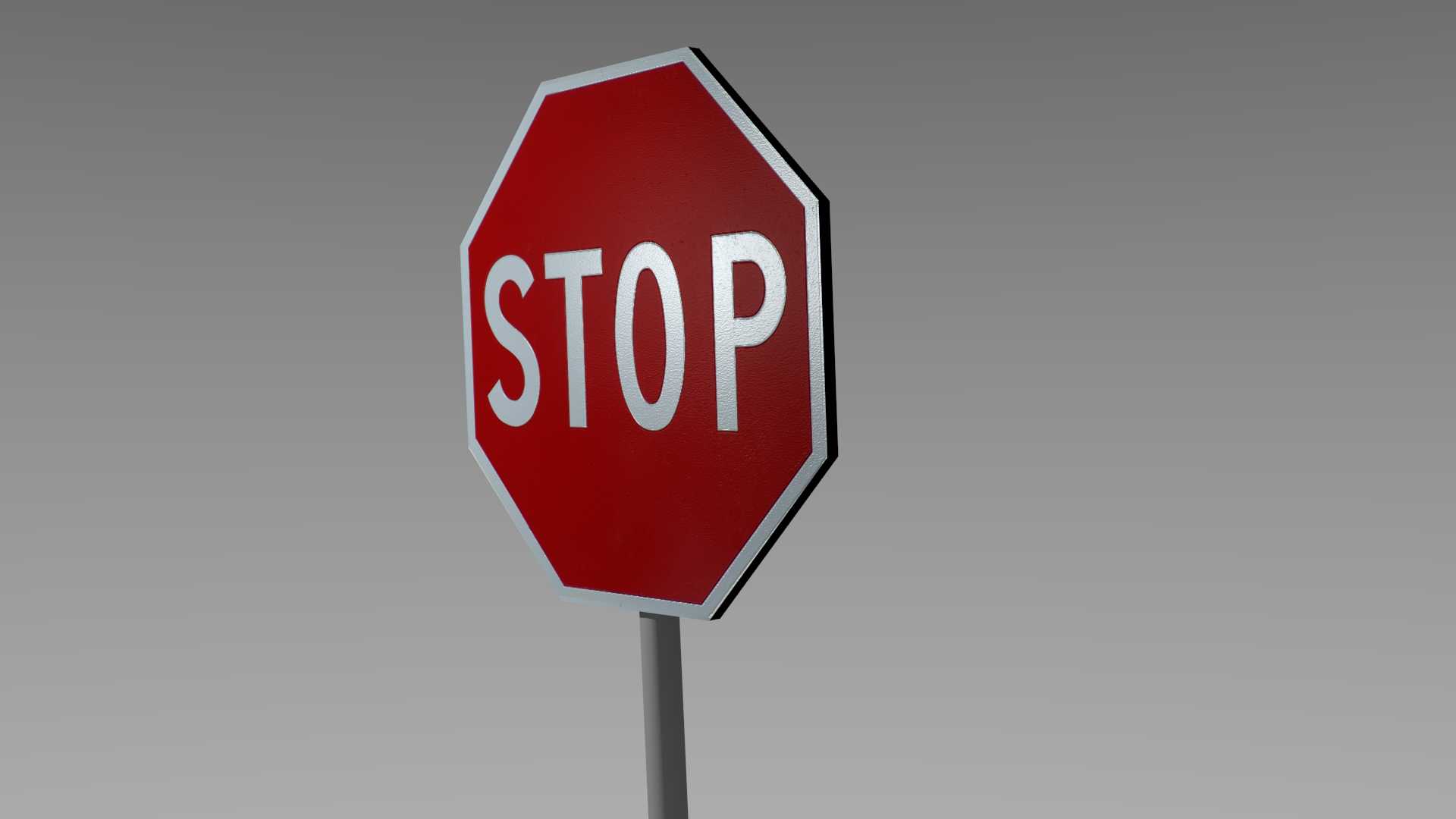 . PlusPng.com stop sign 3d model low-poly obj blend mtl 2 PlusPng.com  - Stop PNG HD