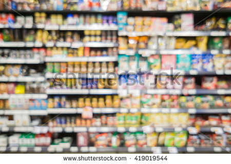 Blur Abstract Background Of People Shopping In Super Market ,products On  Shelves ,Supermarket With - Store Shelf HD PNG