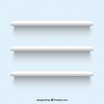 White Shelves - Store Shelf HD PNG