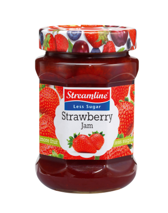 Strawberry Less Sugar Jam - Strawberry Jam PNG