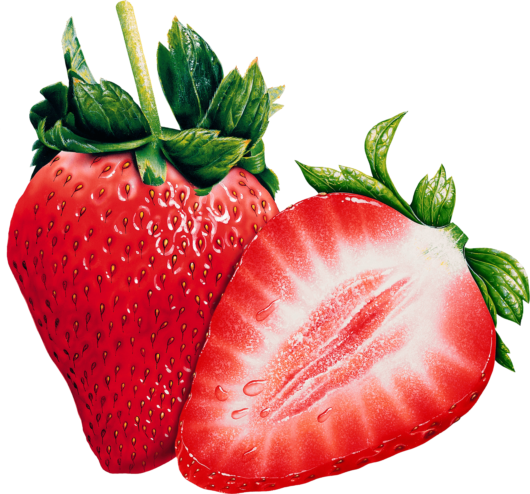 Open Strawberries - Strawberry PNG