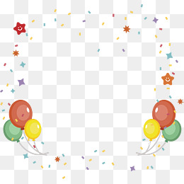 balloon streamers party poster, Vector Png, Color Ribbon, Party Poster PNG  and Vector - Streamers PNG HD