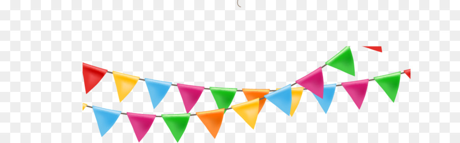 Paper Ribbon Balloon - Festival flag streamers - Streamers PNG HD