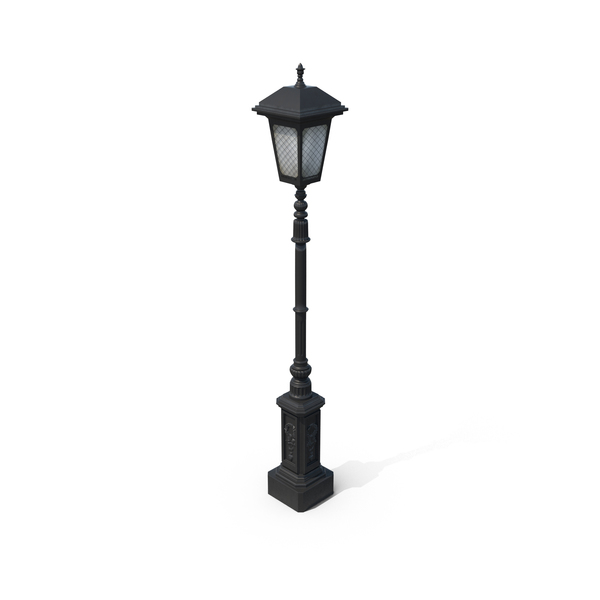 Cast Iron Street Lamp PNG u0026 PSD - Streetlamp HD PNG