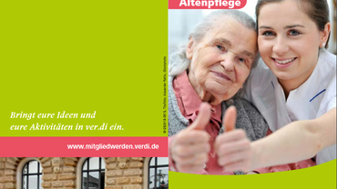 Flyer: Gute Pflege ohne Stress - Stress PNG Pflege