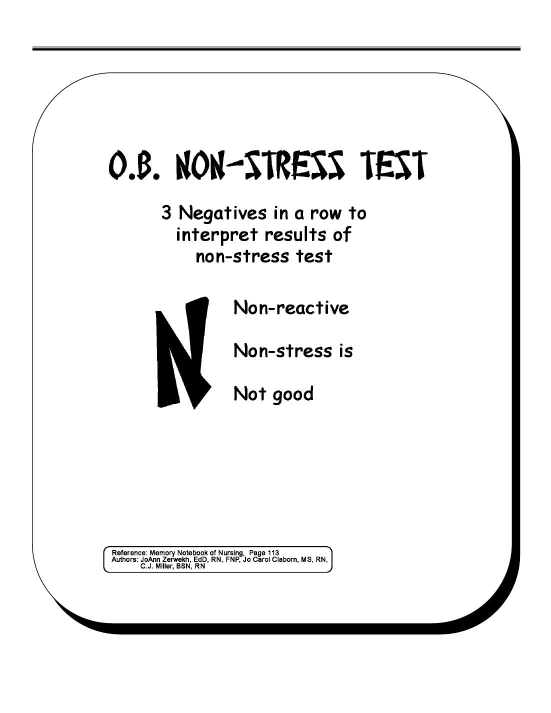 OB NON-STRESS Test - Stress PNG Pflege