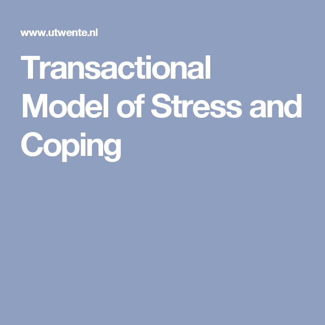 Transactional Model of Stress and Coping - Stress PNG Pflege