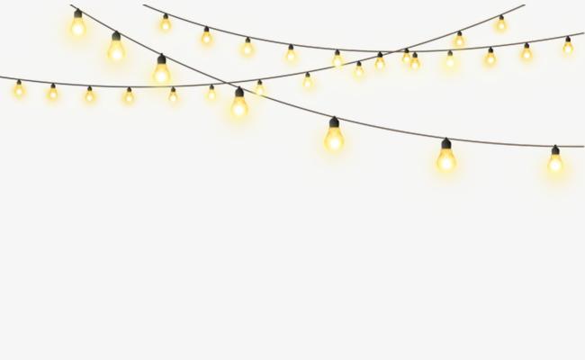 String Lights PNG HD