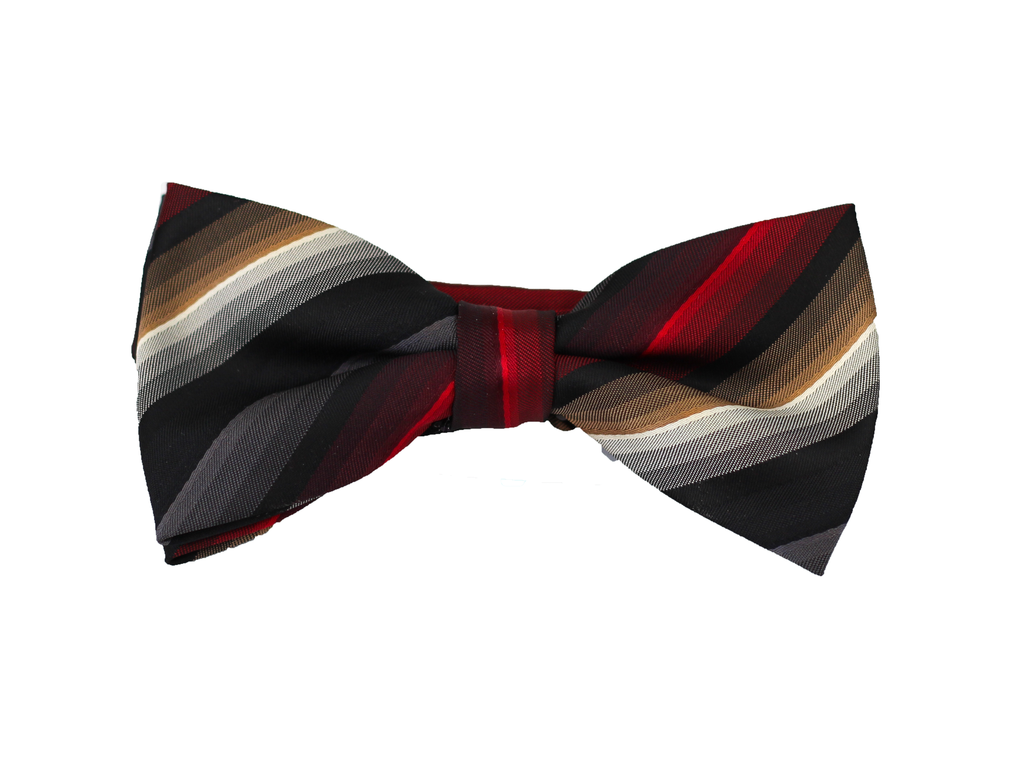 Red Black and Gray Striped Bow Tie PlusPng.com  - Striped Bow Tie PNG