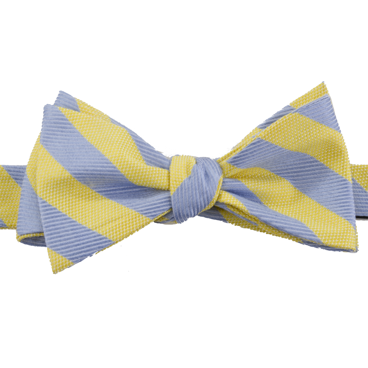 Souther Proper Blue Yellow Stripe Bow Tie - Striped Bow Tie PNG
