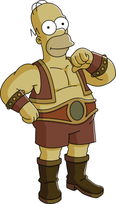 File:Homer strongman tapped out.png - Strongman PNG HD