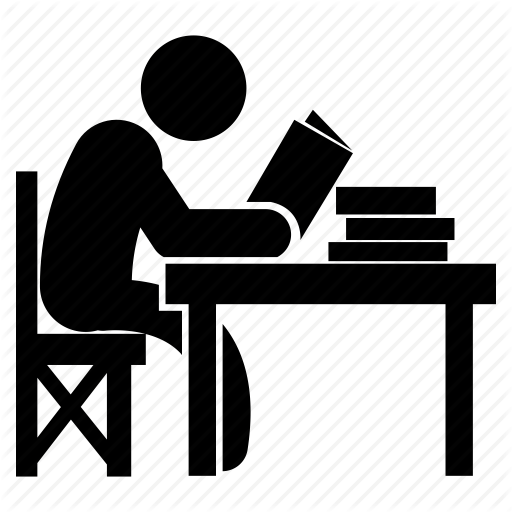 Student At Desk PNG