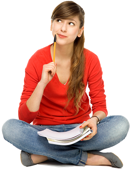 Our Testing Training Programs Are Offered To Students On The Basis Of  Classroom, Online And - Student Thinking PNG HD
