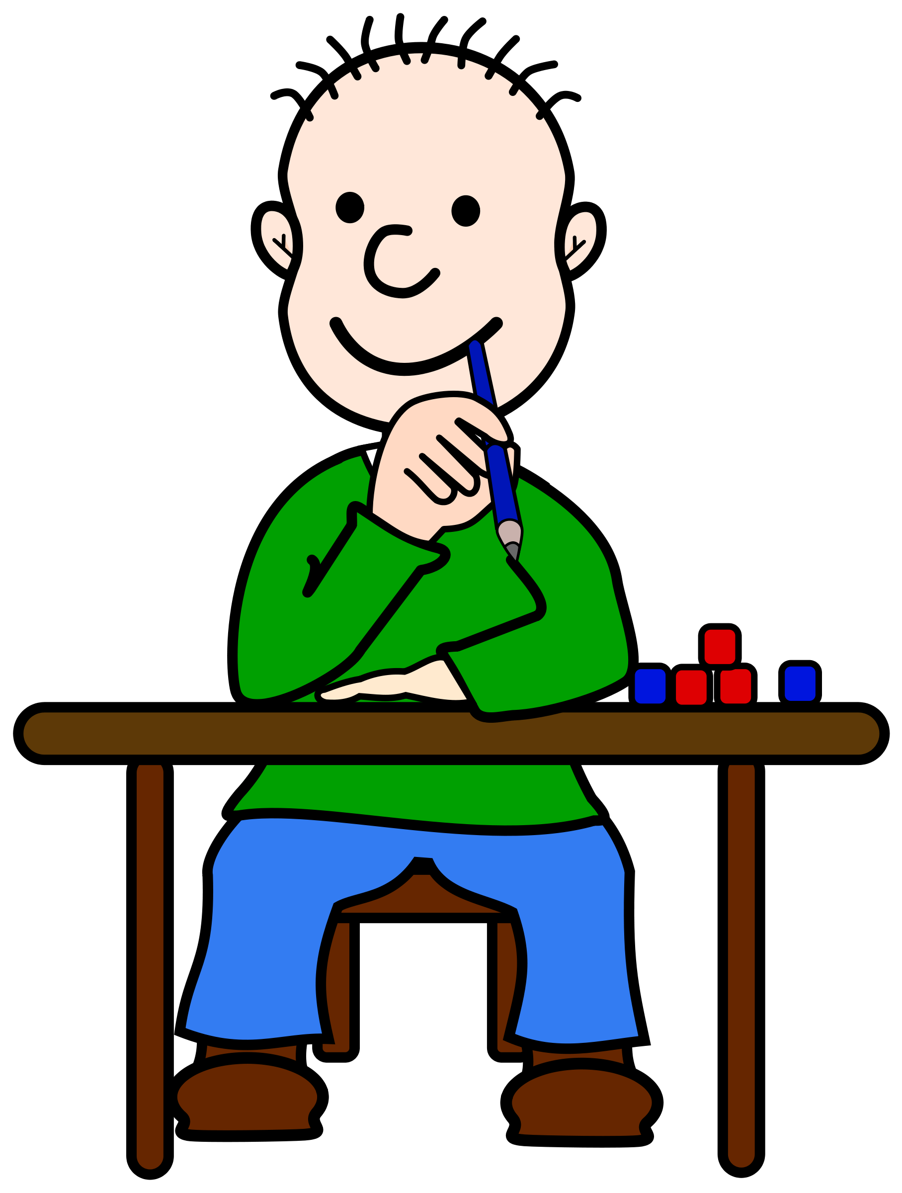 Thinking Clip Art - Thinking Child PNG HD - Student Thinking PNG HD
