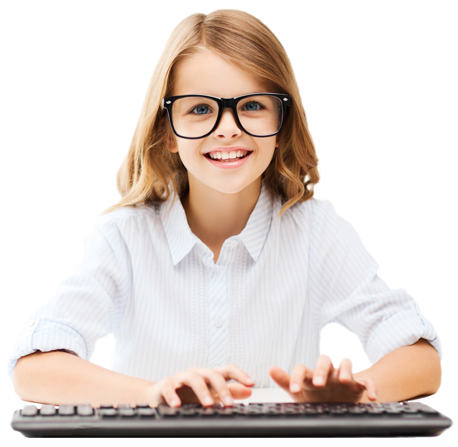 Student Typing PNG